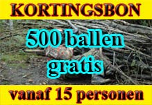 Gladiator Sports winter kortingen op paintball, lasergame en kinderpaintball